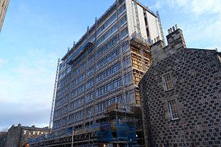 Appleton Tower 1996 tower block in Edinburgh, Scotland, UK