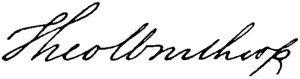 Theodore Winthrop - Image: Appletons' Winthrop John Theodore signature