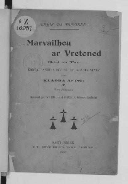 File:Ar Prat - Marvailhou ar Vretoned, 1907.djvu
