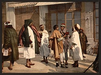 Timeline of Algiers - Image: Arabs disputing, Algiers, Algeria LCCN2001697838