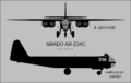 Arado Ar 234C two-view silhouette.png
