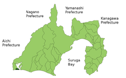 Location of Arai in Shizuoka Prefecture