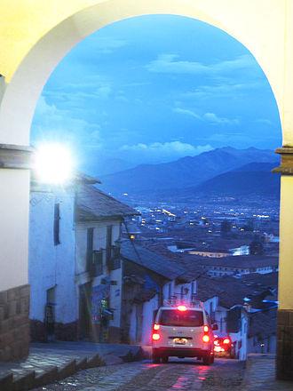 Cusco - Arc of Barrio de Santa Ana, Cusco