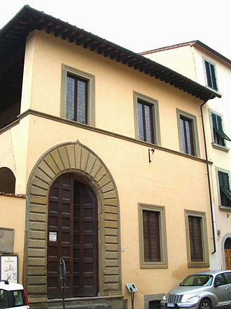 Petrarch - La Casa del Petrarca (birthplace) at Vicolo dell'Orto, 28 in Arezzo