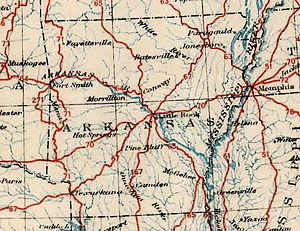 List Of US Highways In Arkansas Wikipedia - Arkansas on a us map