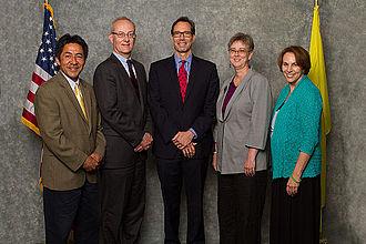 Jay Fisette - 2014 Arlington County Board. From left to right: J. Walter Tejada, John Vihstadt, Jay Fisette, Mary Hynes and Libby Garvey.