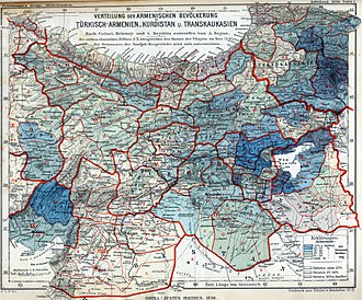 Demographics of the Ottoman Empire - Image: Armenian population map 1896