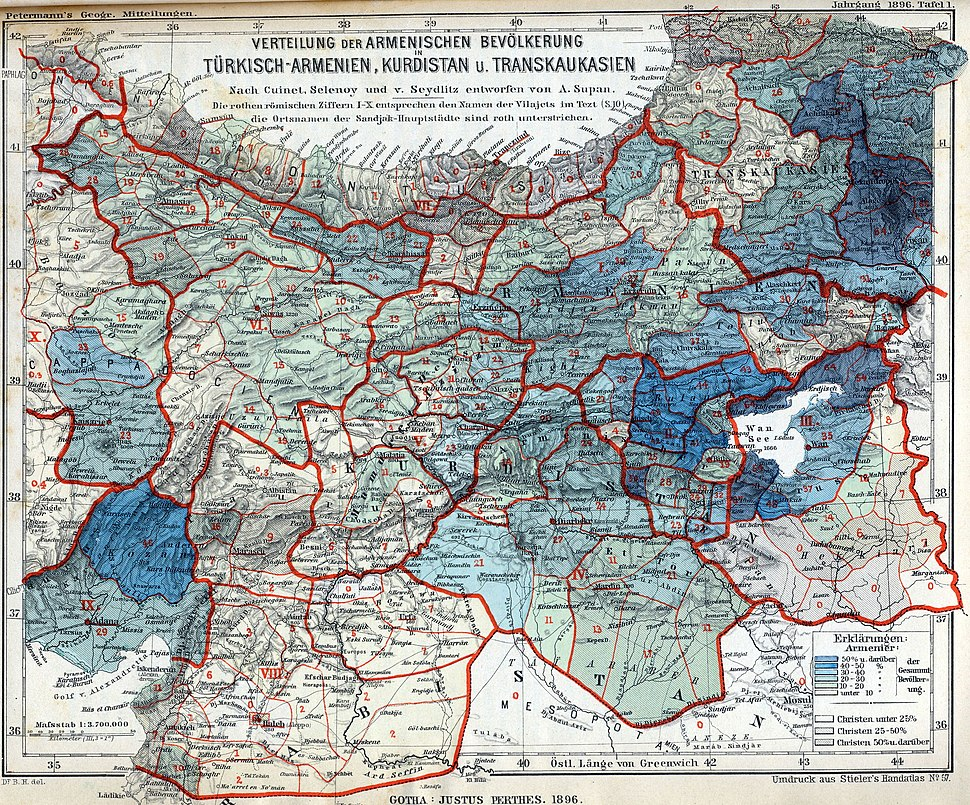 Armenian population map 1896