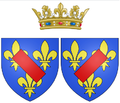 Arms of Louise Françoise de Bourbon, Légitimée de France (known as the Duchess of Bourbon) as Princess of Condé.png