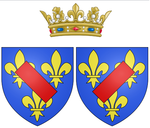Description de l'image Arms of Louise Françoise de Bourbon, Légitimée de France (known as the Duchess of Bourbon) as Princess of Condé.png.