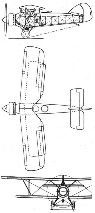 Armstrong Whitworth Atlas - Armstrong Whitworth Atlas II 3-view drawing from L'Aerophile July 1932