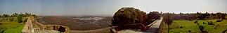 Virar - Panoramic shot from above the northern main gate, Arnala