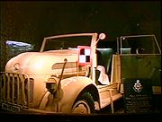 General von Arnim's staff car at the Eastbourne Redoubt captured by the Royal Sussex Regiment in Tunisia.