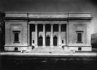 Montreal Museum of Fine Arts - The New Art Gallery (today the Michal and Renata Hornstein Pavilion) seen on Sherbrooke Street West in 1913.