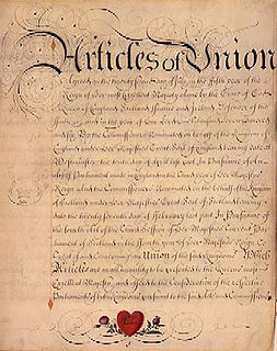 Treaty of Union An agreement in 1706 uniting England and Scotland into the Kingdom of Great Britain