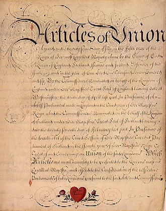 "Acts of Union 1707 - ""Articles of Union otherwise known as Treaty of Union"", 1707"