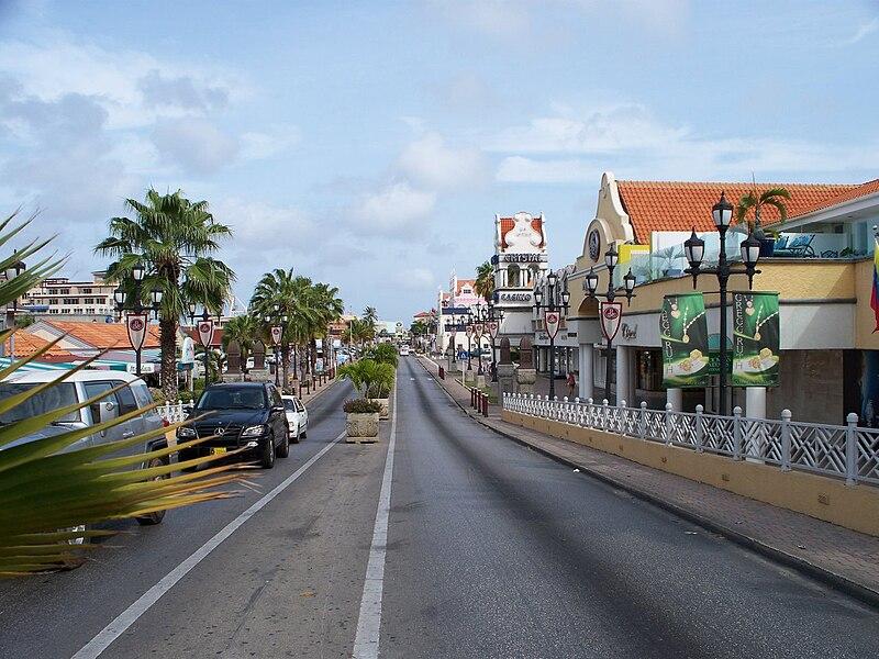 Oranjestad Main Street, Aruba.
