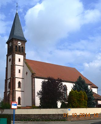 Aschbach, Bas-Rhin - The Church of the Immaculate Conception