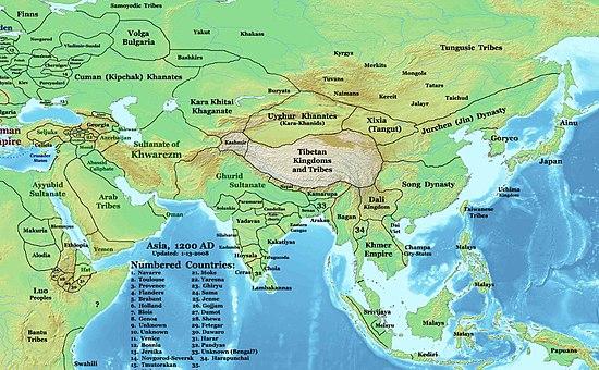 Asia 1200ad
