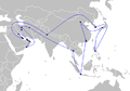 Asian Games Torch Relay route.png