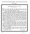 Astronomische Nachrichten, Todesanzeige Heinrich Christian Schumacher am 5. Januar 1851.jpg