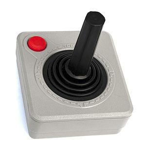 Atari CX40 joystick - The CX40 changed colour to match the Atari XE series.