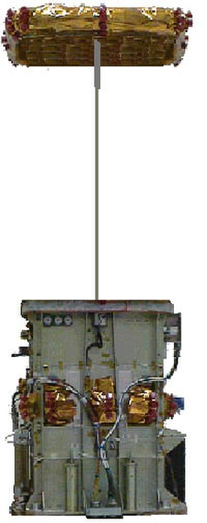 STEX - Advanced Tether Experiment (ATEx) with partially deployed upper end-body