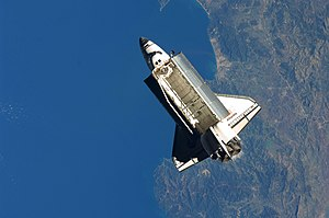 STS-129 - Atlantis departs the ISS