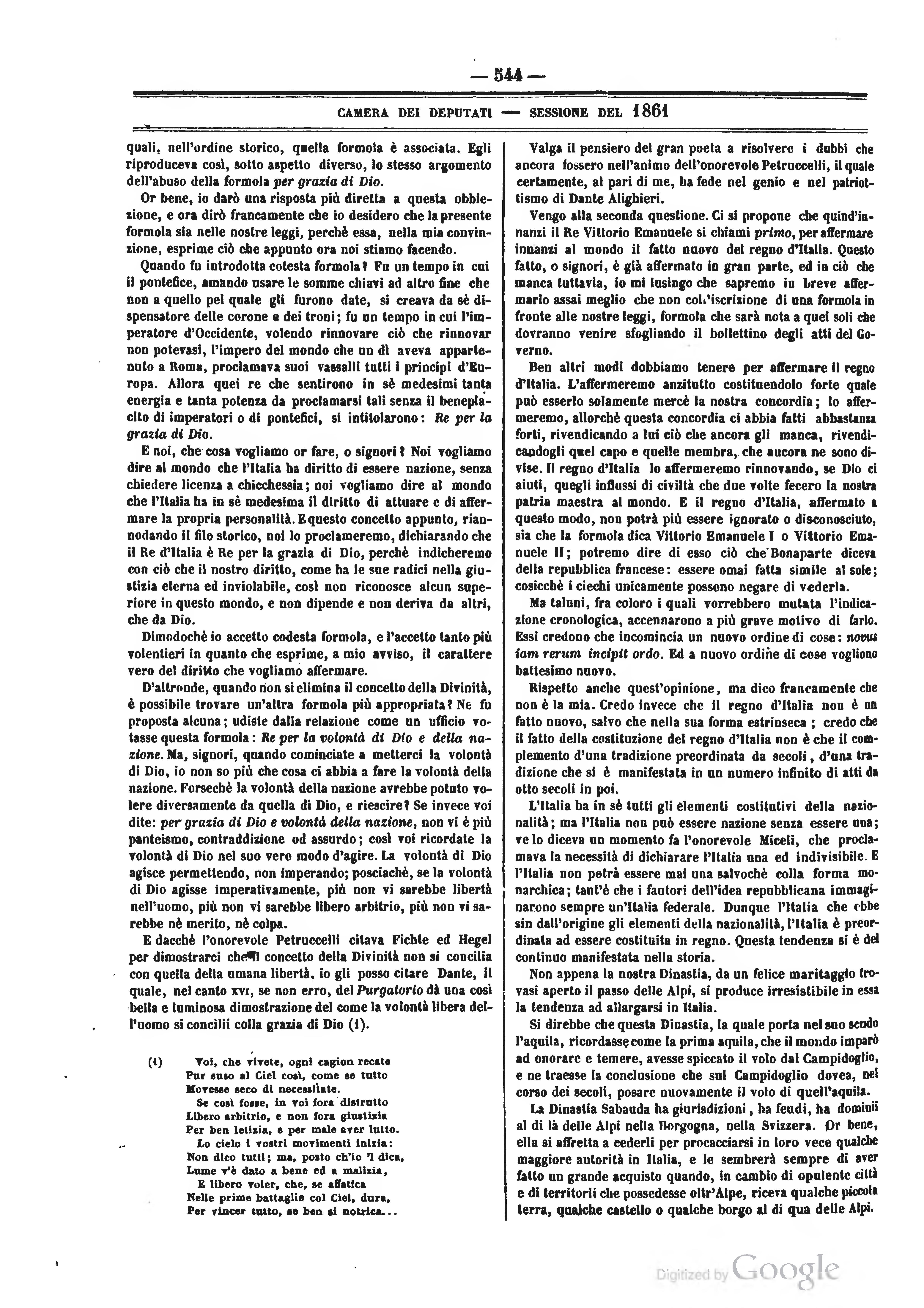 Pagina atti del parlamento italiano 1861 djvu 26 for Il parlamento italiano wikipedia
