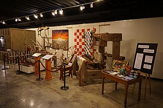 Greenville, Texas - The Hunt County cotton exhibit at the Audie Murphy American Cotton Museum