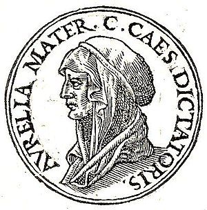 Aurelia Cotta - Image of Aurelia Cotta from Promptuarii Iconum Insigniorum (1553)