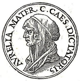 Aurelia Cotta - Image of Aurelia Cotta from Promptuarii Iconum Insigniorum (1553)