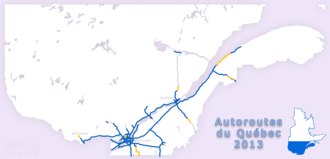 Autoroutes of Quebec - Image: Autoroutes QC 2013