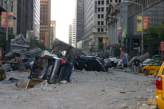 The Avengers (2012 film) - Part of The Avengers film set on East 9th Street in Cleveland, Ohio.