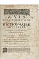 Avis pour l'impression d'un dictionnaire universel F.-J. Chasles.png