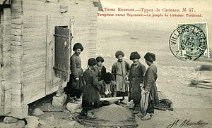 Azerbaijani ethnic groups - Azeri tribe Terekeme, postcard of the Russian Empire
