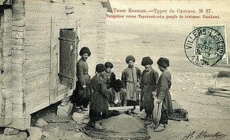 Terekeme people - Azeri tribe Terekeme Postcard of the Russian Empire