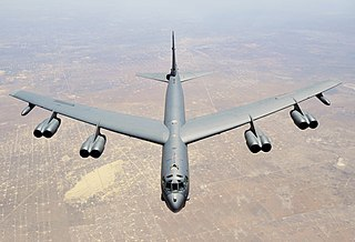 Boeing B-52 Stratofortress Strategic bomber in service with US Air Force since 1955