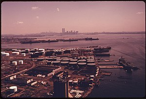 Bayonne, New Jersey - View of Manhattan from Bayonne, 1974