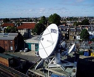 English: BBC satellite communications centre TVC