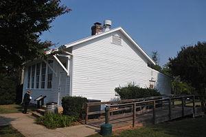 Brentsville Historic District - One-room school in the Brentsville Historic District, March 2007