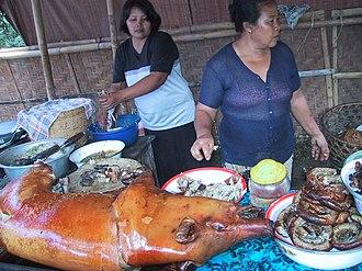 Pig roast - Balinese Babi guling or roasted suckling pig