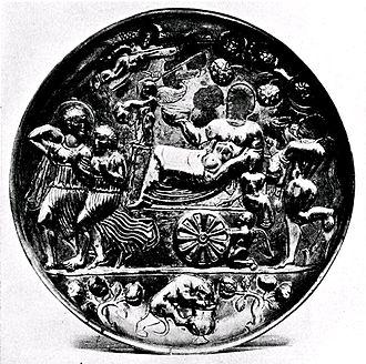 "Badakhshan - Badakshan patera, ""Triumph of Bacchus"", British Museum. (1st-4th century CE)."