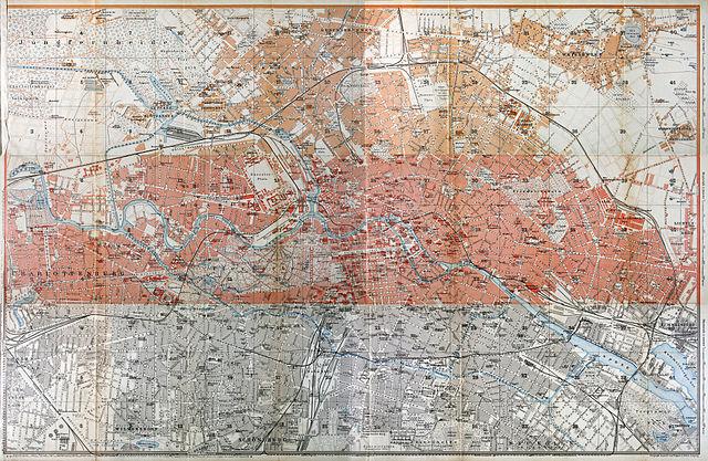 FileBaedeker Großer Streifenplan Von Berlin Jpg - Berlin map 1914