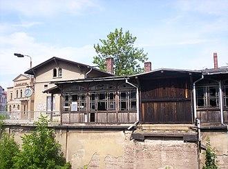Borsdorf–Coswig railway - Entrance building of Döbeln Zentrum station