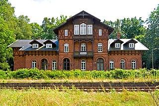 Göhrde station railway station in Nahrendorf, Germany