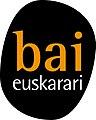 Bai Euskarari Elkartearen logoa.jpg