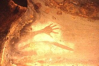 Milbrodale, New South Wales - Image: Baiame Cave Bulga 0004