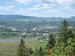 Guardando a nord attraverso le colline di Charlevoix da Baie-Saint-Paul