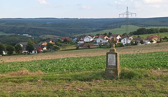 Baldringen - The village seen from NW